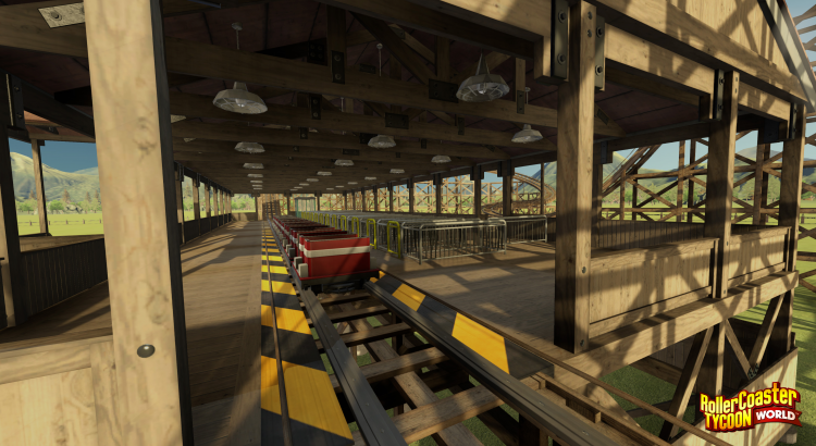 RollerCoaster Tycoon Wooden Coaster Station Outside